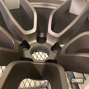 Wheels Cerakoted Using Midnight Bronze
