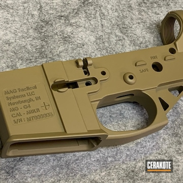 Mag Tactical Ar Lower Cerakoted Using Coyote Tan