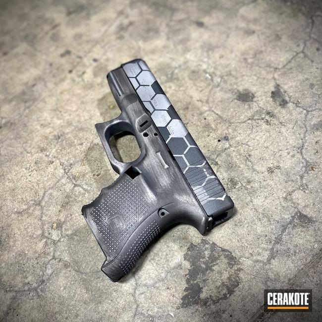 Cerakoted: Satin Mag H-147,S.H.O.T,Sniper Grey H-234,10mm,Battleworn,Armor Black H-190,Glock,Honeycomb