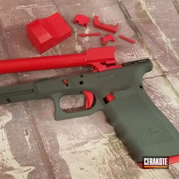 Glock Cerakoted Using Springfield® Grey And Usmc Red