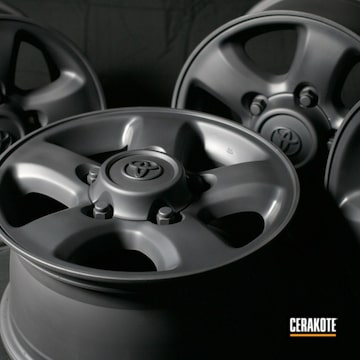 Toyota Wheels Cerakoted Using Sniper Grey
