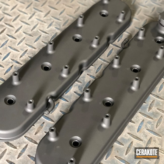 Cerakoted: Holley,Valve Covers,Automotive,Cobalt H-112