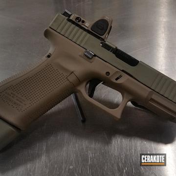 Glock 45 Cerakoted Using Mud Brown And Multicam® Olive