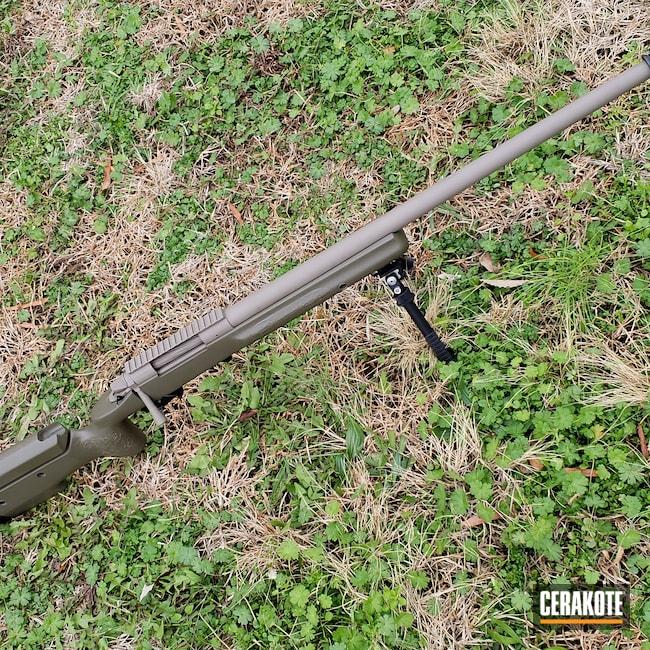 Cerakoted: S.H.O.T,Bolt Action Rifle,Flat Dark Earth H-265,MAGPUL® FOLIAGE GREEN H-231,Remington 700