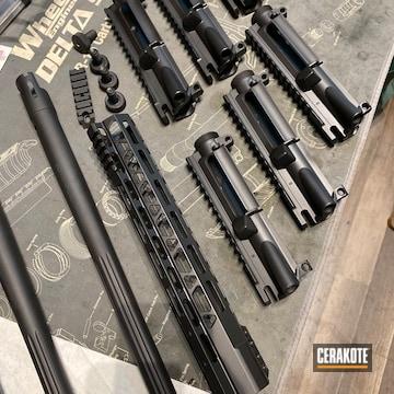 Gun Parts Cerakoted Using Graphite Black