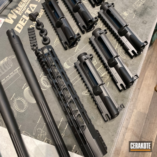 Cerakoted: S.H.O.T,12g,AR-15 Upper,Graphite Black H-146,Shotgun Barrel,Remington