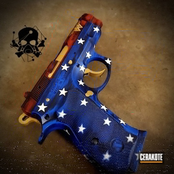 Wonder Woman Themed Canik Tristar Cerakoted Using Snow White, Usmc Red And Nra Blue