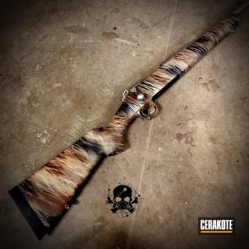 Custom Camo Kimber Rifle Cerakoted Using Multicam® Dark Brown, Desert Sand And Graphite Black