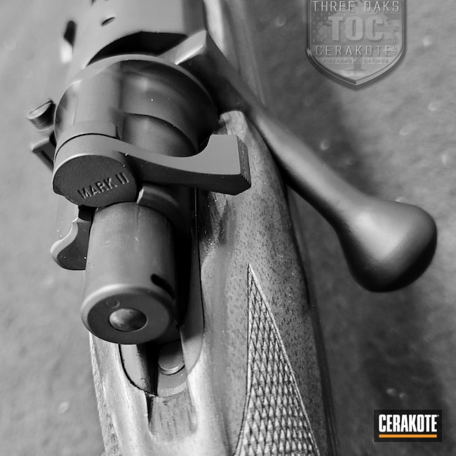 Cerakoted: S.H.O.T,Bolt Action Rifle,Argentine Mauser,1909,Armor Black H-190,Mauser