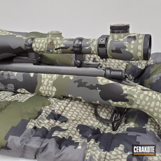 Custom Kuiu Camo Rifle Cerakoted Using Desert Sage, Forest Green And Sniper Green