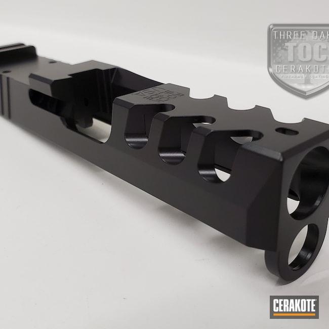 Cerakoted: S.H.O.T,Graphite Black H-146,Glock Slide,Glock,Custom Glock Slide