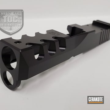 Custom Glock Slide Cerakoted Using Graphite Black