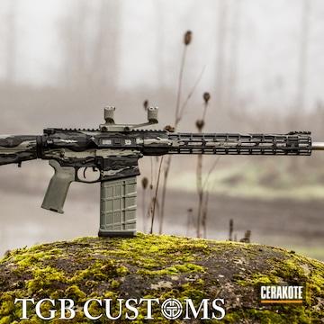 Tiger Stripes Camo Aero Precision Ar Build Cerakoted Using Armor Black, Springfield® Grey And Smith & Wesson® Grey