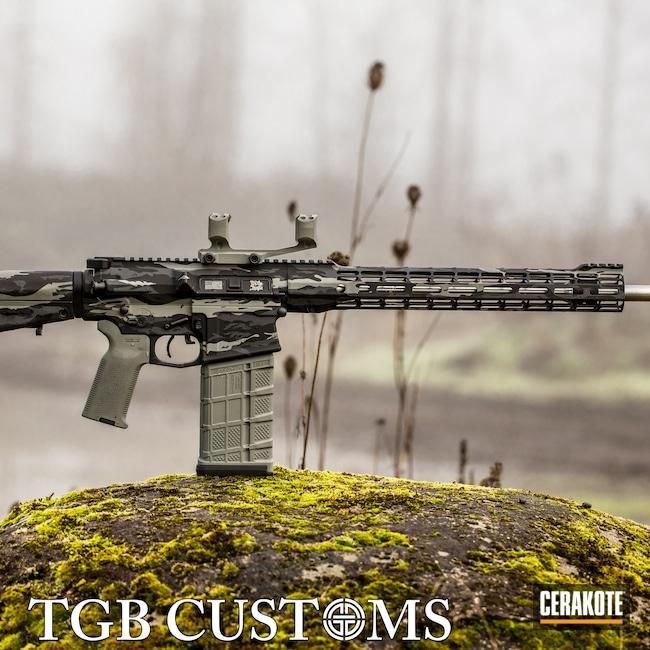 Cerakoted: S.H.O.T,Aero Precision,7mm-08,SPRINGFIELD® GREY H-304,Tiger Stripes,Armor Black H-190,Bull Shark Grey H-214,AR 10