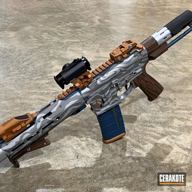 Star Wars Themed Ar Cerakoted Using Multicam® Dark Brown, Patriot Brown And Crushed Silver