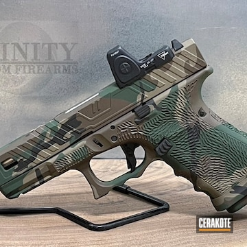 Multicam Glock Cerakoted Using Armor Black, Highland Green And Chocolate Brown