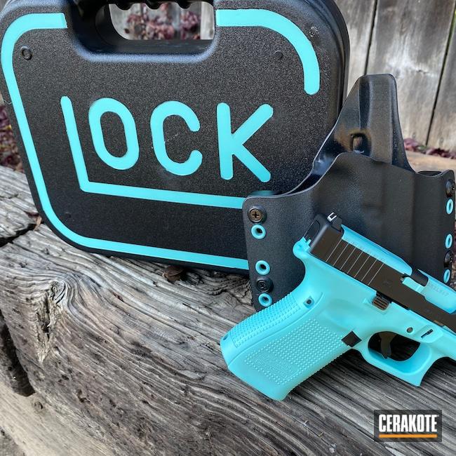 Cerakoted: S.H.O.T,Glock 19,Robin's Egg Blue H-175,Graphite Black H-146