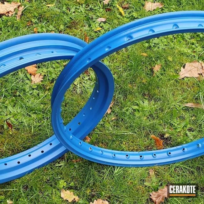 Cerakoted: Aluminum Wheels,NRA Blue H-171,Automotive,Wheels