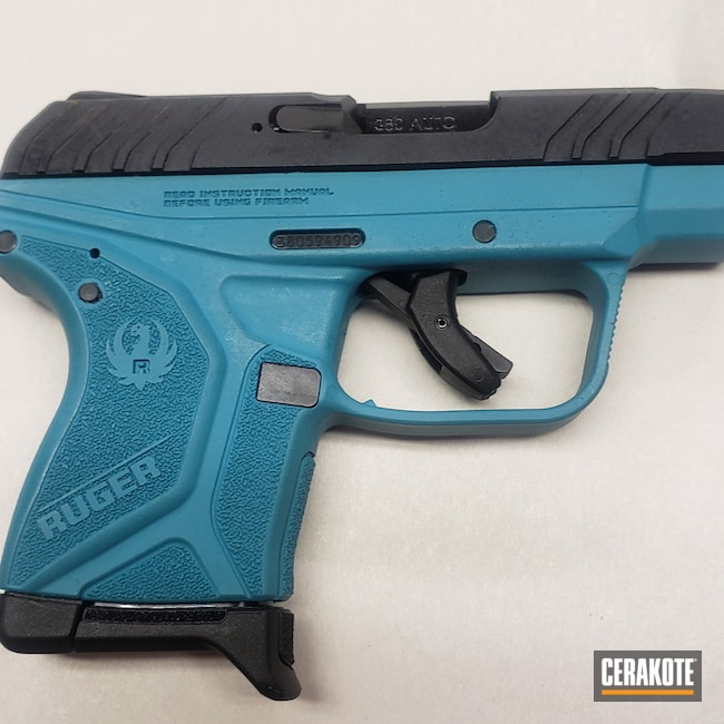 Cerakoted: S.H.O.T,Ruger,Ruger LCP II,AZTEC TEAL H-349,Firearm,Pistol