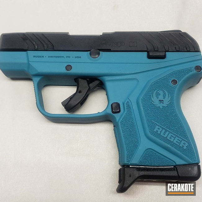 Ruger Lcp Ii Cerakoted Using Aztec Teal