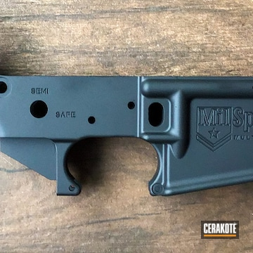Ar Lower Cerakoted Using Graphite Black