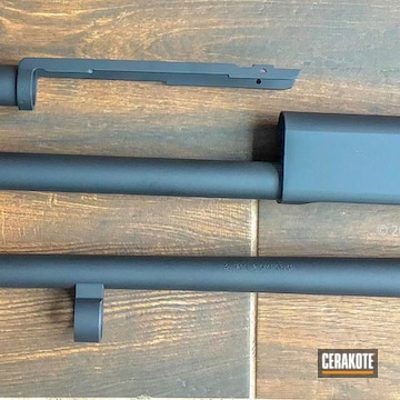 Remington Barrel And Chassis Cerakoted Using Graphite Black