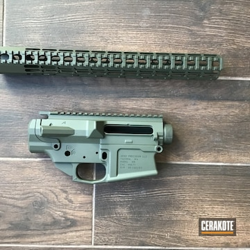 Aero Precision Builders Set Cerakoted Using Magpul® O.d. Green