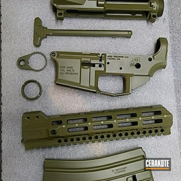 Ar Builder Set And Components Cerakoted Using Noveske Bazooka Green