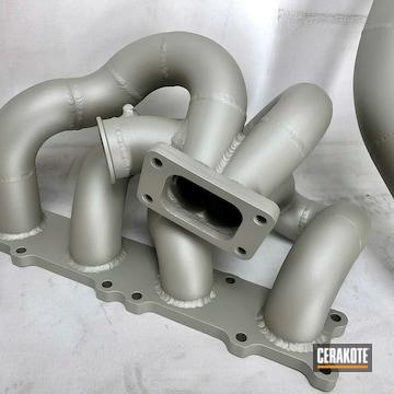 Turbo Intake Cerakoted Using Cerakote Glacier Titanium