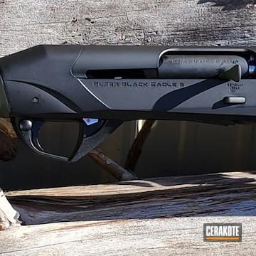 Benelli Sbe Iii Shotgun Cerakoted Using Graphite Black And Mil Spec Green