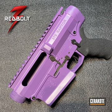 Ar Upper And Lower Cerakoted Using Bright Purple