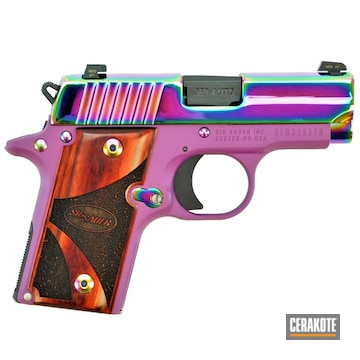Sig Sauer P238 Cerakoted Using Wild Purple