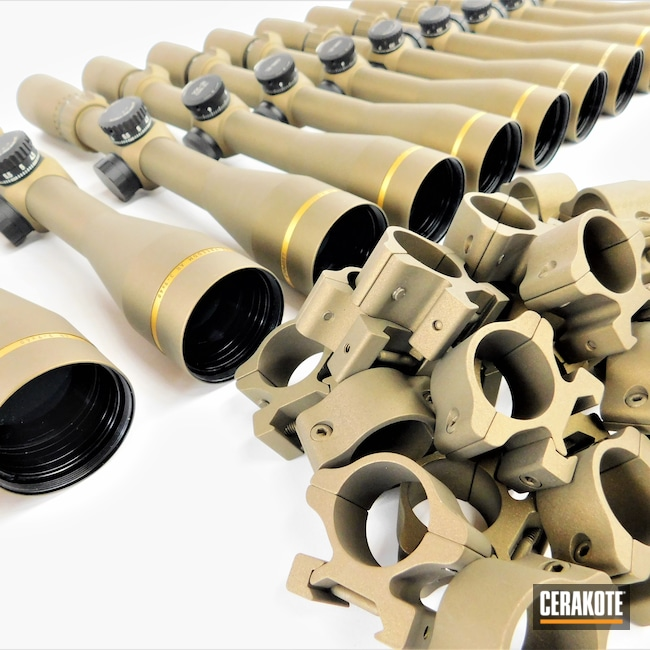 Cerakoted: S.H.O.T,Scope,Scopes,Rings,Rifleman,Burnt Bronze H-148,Leupold