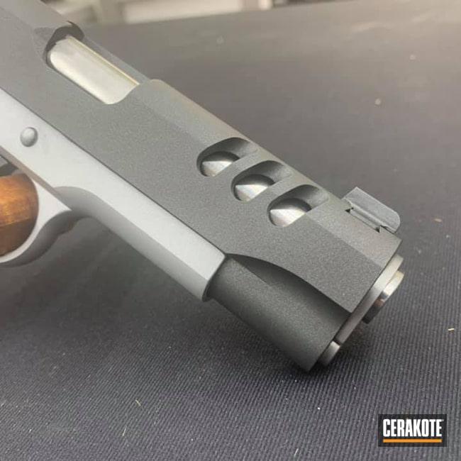Cerakoted: S.H.O.T,9mm,Gunsmithing,Crushed Silver H-255,Hand Built,1911,Cobalt H-112,Custom Build