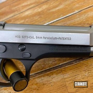 Beretta 1911 Cerakoted Using Graphite Black