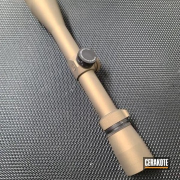 Leupold Scope Cerakoted Using Burnt Bronze