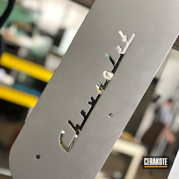 Chevy Engine Panel Cerakoted Using Cerakote Glacier Silver