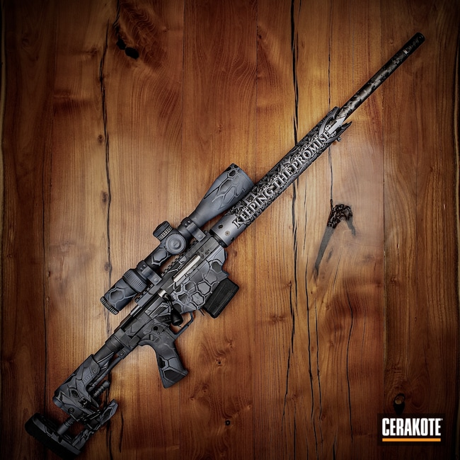 Cerakoted: Bright White H-140,S.H.O.T,Sniper Grey H-234,Graphite Black H-146,Ruger RPR,Typhon Kryptek