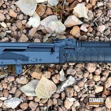 Custom Ak Cerakoted Using Sniper Grey And Graphite Black