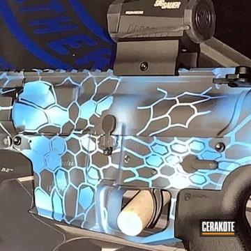Kryptek Neptune Ar Cerakoted Using Armor Black, Snow White And Nra Blue