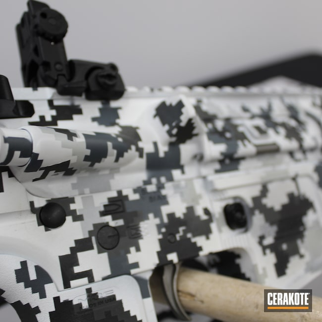 Cerakoted: S.H.O.T,White,Armor Black H-190,.223,SIG™ DARK GREY H-210,5.56,AR Build,Snow,Jesse James Cold War Grey H-402,Snow White H-136,Digital Camo,AR,AR Project,Black,FROST H-312