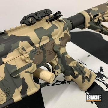 Ar Cerakoted Using Armor Black, Sig™ Dark Grey And Chocolate Brown
