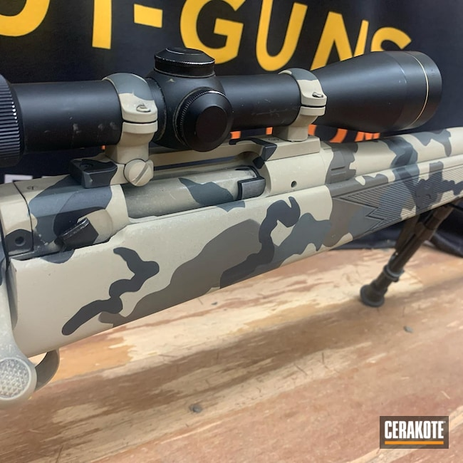 Cerakoted: S.H.O.T,Bolt Action Rifle,Kuiu Camo,Bolt Action,kuiu vias,Savage,Armor Black H-190,FDE,SIG™ DARK GREY H-210,Brown,Grey,Black,GLOCK® FDE H-261,Chocolate Brown H-258