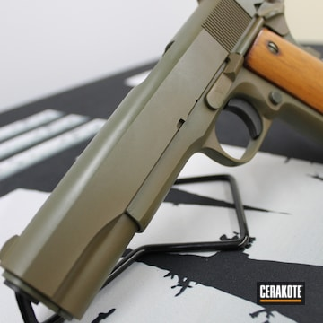 Rock Island Armory 1911 Cerakoted Using Magpul® Foliage Green