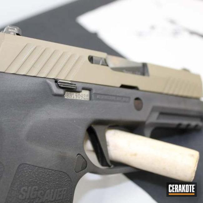 Sig Sauer P320 Cerakoted Using Armor Black And Magpul® Fde
