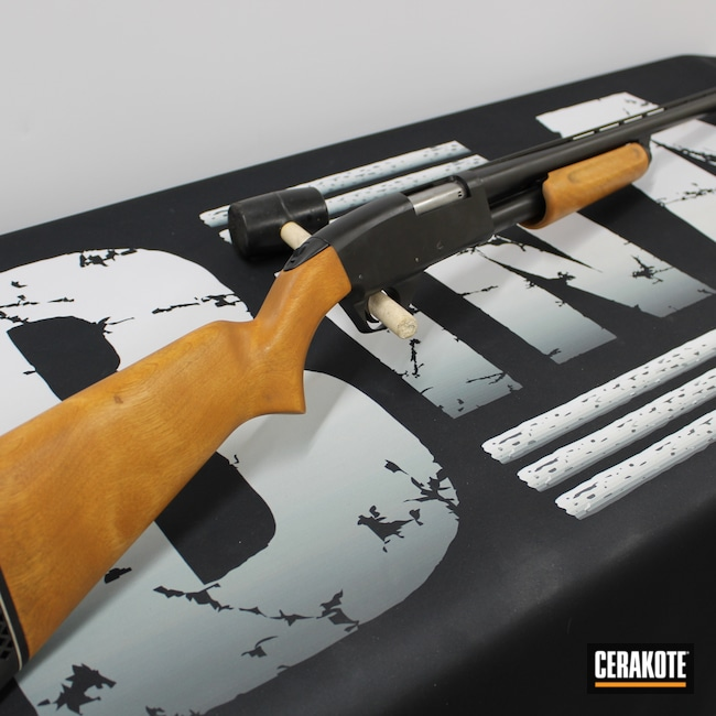 Cerakoted: S.H.O.T,Savage Arms,Shotgun,Socom Blue H-245,Blueing,Restoration,67C