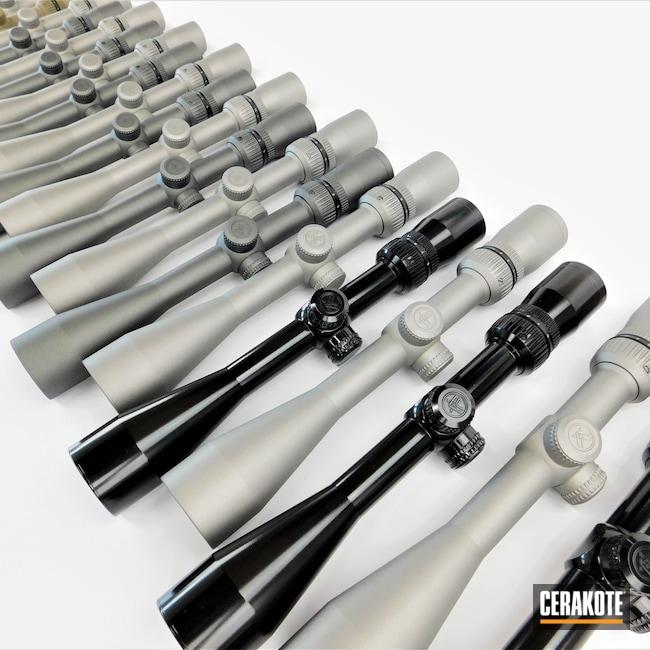 Cerakoted: S.H.O.T,Vortex,4-12x44,Scope,Scopes,Gloss Black H-109,Tungsten H-237,Titanium H-170,Flat Dark Earth H-265,Production,Jesse James Eastern Front Green H-400