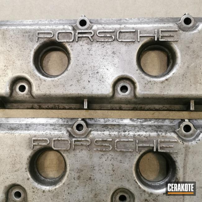 Cerakoted: 911 Turbo,Custom Porsche,911,Graphite Black C-102,Burnt Bronze C-148,Porsche 911,Engine,Automotive,Porsche,Engine Tuning,Custom Engine