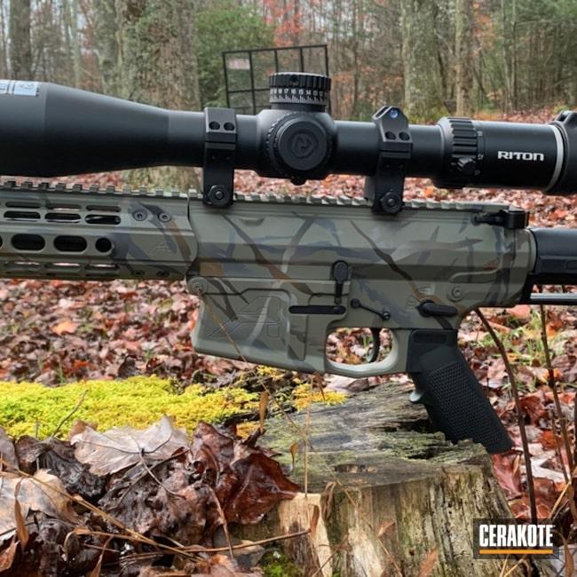 Ar Cerakoted Using Sniper Grey, Magpul® Foliage Green And Armor Black