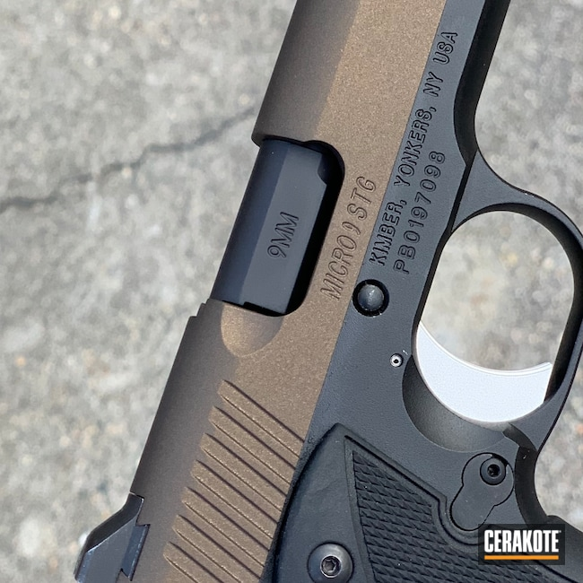 Cerakoted: S.H.O.T,Pistol,Kimber Micro 9,Midnight Bronze H-294